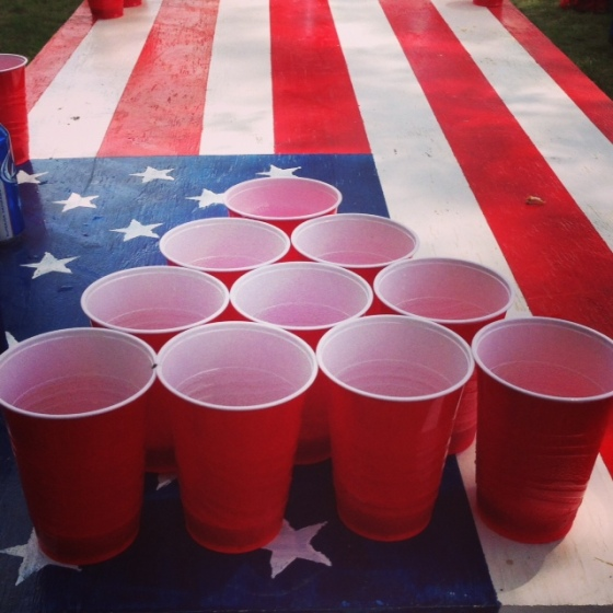 Our American Flag Beer Ping Table really sets the tone