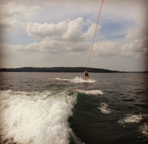 My first time wakeboarding!