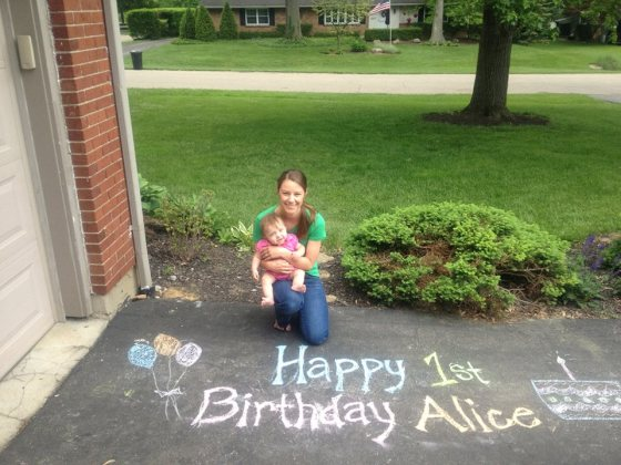 Alice's 1st birthday in May!