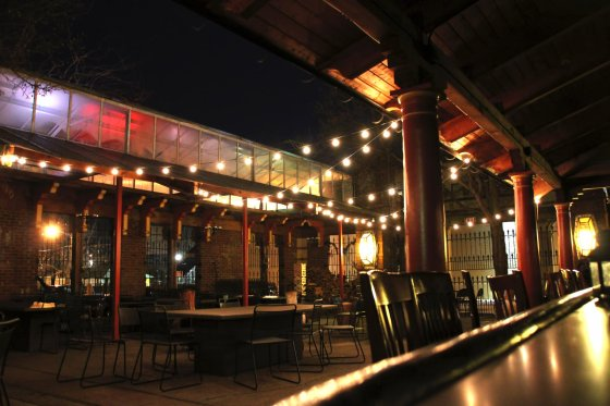 The Famous Neon's Unplugged outdoor beer garden