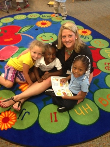Elizabeth, MiNaya and Erriana reading to me.