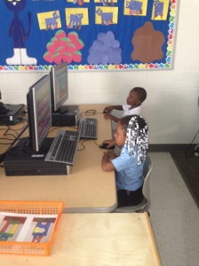 They also have 4 computers in the classroom. They visit a website (www.abcya.com) that has educational games for all grade levels.